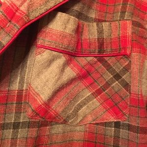 Lord and Taylor nice and long flannel shirt L